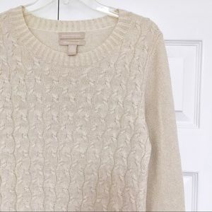 Banana Republic | Cream Sparkle Cashmere Sweater